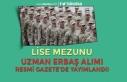 Lise Mezunu Uzman Erbaş Alımı Resmi Gazete'de...