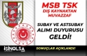 MSB TSK Dış Kaynaktan Bando Sınıfı Muvazzaf Subay...