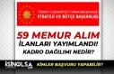 Cumhurbaşkanlığı SBB 59 Memur Alım İlanı Yayımlandı!...
