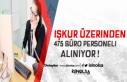 İŞKUR Üzerinden KPSS Şartsız 475 Büro Memuru...