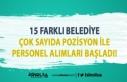 İŞKUR'da 15 Belediye Personel Alımı İlanları...