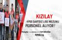 Kızılay KPSS Şartsız Lise Mezunu Personel Alacak...