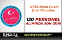 KPSS Baraj Puanı Olmadan Bakanlığa 120 Kamu Personeli...