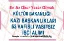 Kültür Bakanlığı Kazı Başkanlıkları 63 Vasıflı...