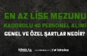 Lise Mezunu Kadrolu 40 Kamu Personeli Alımı KPSS,...