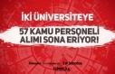 Sağlık Bilimleri ve Gazi Üniversitesi 57 Kamu Personeli...