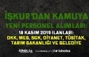 18 Kasım Kamu İŞKUR İlanları: DKK, SGK, MEB,...