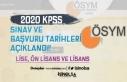 2020 KPSS Sınav ve Başvuru Tarihleri ( Lise, Ön...