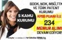 5 Kuruma ( BDDK, NDK, MSÜ, TTK ve Türk Patent) 234...