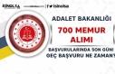 Adalet bakanlığı 700 Memur Alımı İçin Son Gün!...