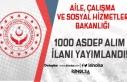 Aile Bakanlığı 1000 ASDEP Alım İlanı Yayımlandı!
