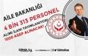 Aile Bakanlığı ASDEP 4 Bin 313 Kamu Personeli Alımı...