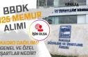 BBDK 125 Memur Alımı Kadro Dağılımı, Genel ve...