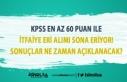 Belediye'ye 60 KPSS Puanı İle İtfaiye Eri...