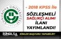 Çukurova Üniversitesi 2018 KPSS Puanı İle Sağlıkçı...