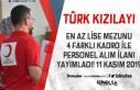 En Az Lise Mezunu Türk Kızılayı 4 Farkı Kadro...