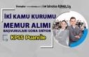 İki Kamu Kurumu (Enerji Bakanlığı ve TÜVASAŞ)...