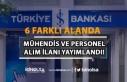 İş Bankası 6 Alanda Mühendis ve Personel Alımı...