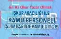 İŞKUR En Az Okur Yazar Olmak Şartı İle Kamu Personel...