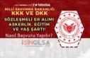 KKK ve DKK 2019 Sözleşmeli Er Alımı Yaş, Eğitim,...