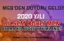 MEB'ten Duyuru 2020 Yılı BİLSEM Öğretmen...