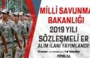 Milli Savunma Bakanlığı (MSB) 2019 Yılı Sözleşmeli...