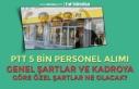 PTT 5 Bin Personel Alımı Kadro Dağılımı, Genel...