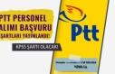 PTT Personel Alımı Başvuru Şartları Yayımlandı!KPSS...