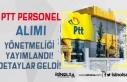 PTT Personel Alımı İçin Resmi Gazete'de Yönetmelik...