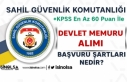 Sahil Güvenlik KPSS En Az 60 Puan İle Devlet Memuru...