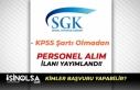 Sosyal Güvenlik İl Müdürlüğü İŞKUR Aracılığı...