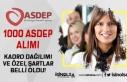 Türkiye Geneli 1000 ASDEP Personeli Alımı Bölümleri...