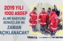 2019 Yılı 1000 ASDEP Personeli Alımı Sonuçları...