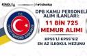 DPB Kamu Personel Alım İlanları: KPSS'li KPSS'siz...