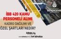İBB 420 Kamu Personeli Alımı Kadro Dağılımı...