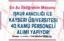 İŞKUR İle Kayseri Üniversitesi 40 Güvenlik Görevlisi...