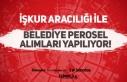 İŞKUR Üzerinden Farklı Belediyelere KPSS'siz...