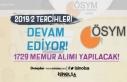 KPSS 2019/2 Tercihleri İle 1729 Memur Alımı Devam...