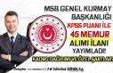 MSB Genel Kurmay Başkanlığı 45 Sivil Memur Alımı...
