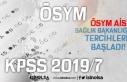 ÖSYM AİS'te KPSS 2019/7 Tercih Ekranı Açıldı!...