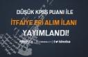 Resmi Gazete'de Düşük KPSS Puan ile İtfaiye...