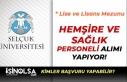Selçuk Üniversitesi En Az Lise Mezunu Hemşire ve...