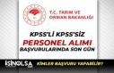 Tarım Bakanlığı KPSS ile ve KPSS'siz Sözleşmeli...