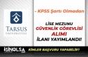 Tarsus Üniversitesi Lise Mezunu Kura İle Özel Güvenlik...