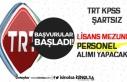 TRT KPSS Şartsız Lisans Mezunu Personel Alımı...