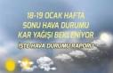 18 Ocak ve 19 Ocak Hava Durumu İçin Meteoroloji...
