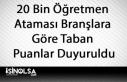 20 Bin Öğretmen Ataması Branşlara Göre Taban...