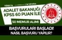 Adalet Bakanlığı KPSS 60 Puan İle 50 Memur Alımı...
