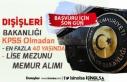 Dışişleri Bakanlığı 40 Yaşına Kadar KPSS'siz...