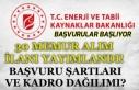 Enerji ve Tabii Kaynaklar Bakanlığı 30 Memur Alımı...